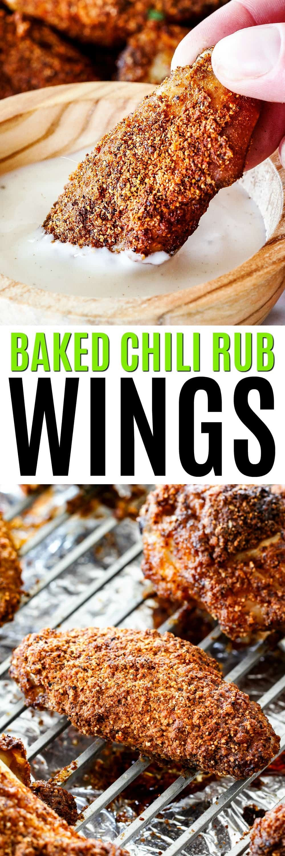 Photo of Baked Chili Rub Wings –  Baked Chili Rub Wings are seasoned to perfection, baked…