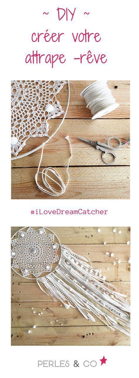 dreamcatcher attrape r ve diy facile napperon au crochet dentelle et franges jersey couture. Black Bedroom Furniture Sets. Home Design Ideas