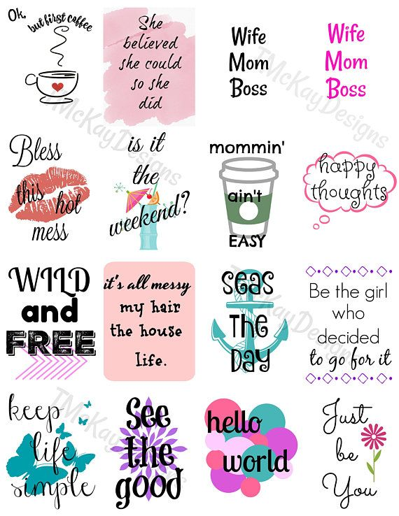 mom stickers planner stickers printable stickers instant download stickers print your own. Black Bedroom Furniture Sets. Home Design Ideas