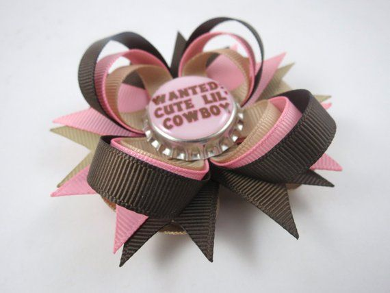 Clothing, Shoes & Accessories Cowgirl Hair Bow Bobble Set A Great Variety Of Goods