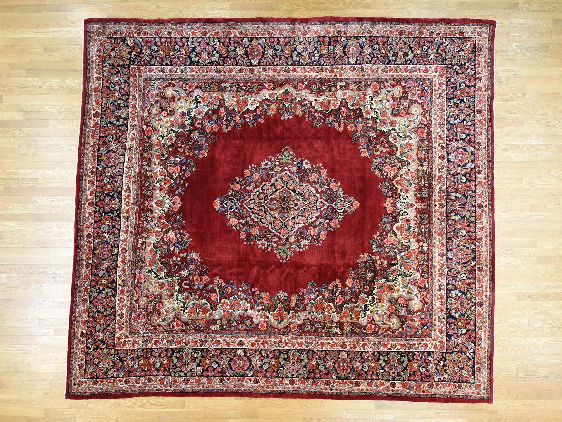 12 X13 4 Hand Knotted Square Antique Persian Sarouk Oriental Rug Moac7db6 Orientalrugs Interior Rugs Carpet Rug Sale R Rug Shopping Big Rugs Rug Store