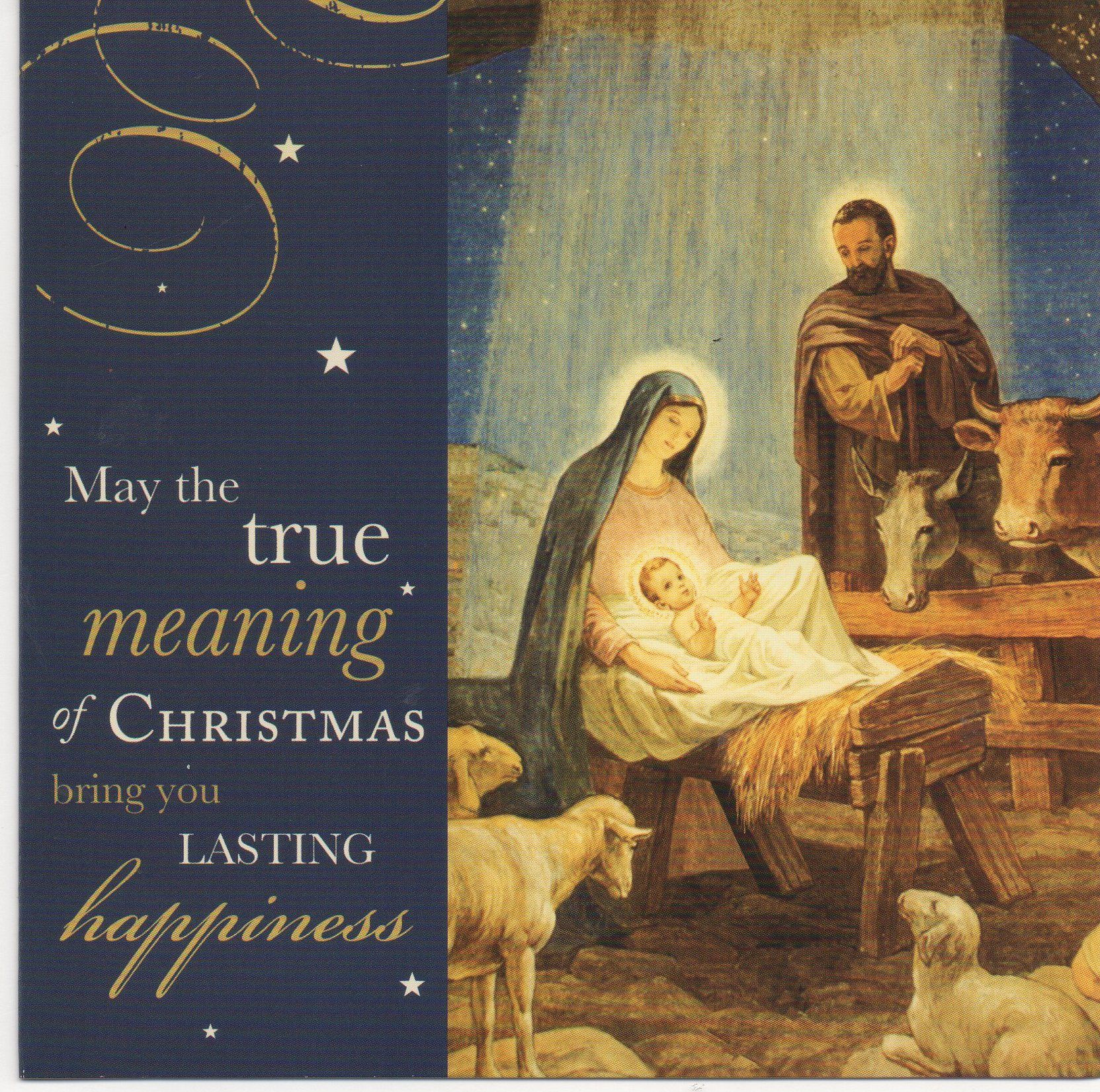 Delicieux Nativity Scene Christmas Card