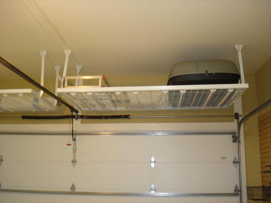 Garage Ceiling Unit High Shelves Tool Storage Cabinets Home Organizer Overhead Hangers Ceilings T Overhead Garage Storage Garage Ceiling Storage Garage Storage