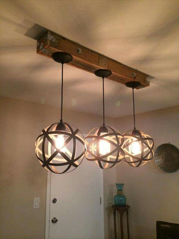 Pallet projects | Dream Home | Pinterest | Lampadari, Lampade e ...