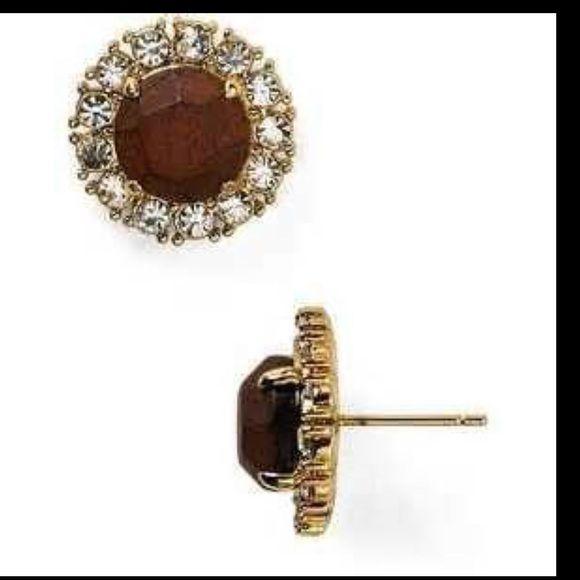 Kate Spade Secret Garden Studs Never been worn! Gorgeous wood stud earrings! kate spade Jewelry Earrings