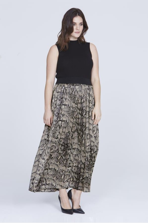 150ccfce7 Pleated Skirt, Midi Skirt, Sequin Skirt, Maxis, Snake Print, Plus Size