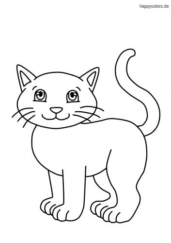 Lachendes Kätzchen Malvorlage in 2020 Malvorlagen tiere