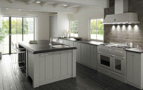 Küche küche landhausstil weiß modern  Steel Standherde und - küche landhaus weiß
