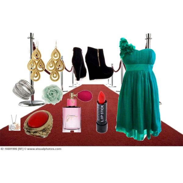 red carpet, created by #drue-young on #polyvore. #fashion #style #Crislu #Wallis
