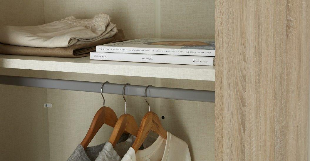 Made Kleiderschrank Helles Holz Kleiderschrank Schiebeturen