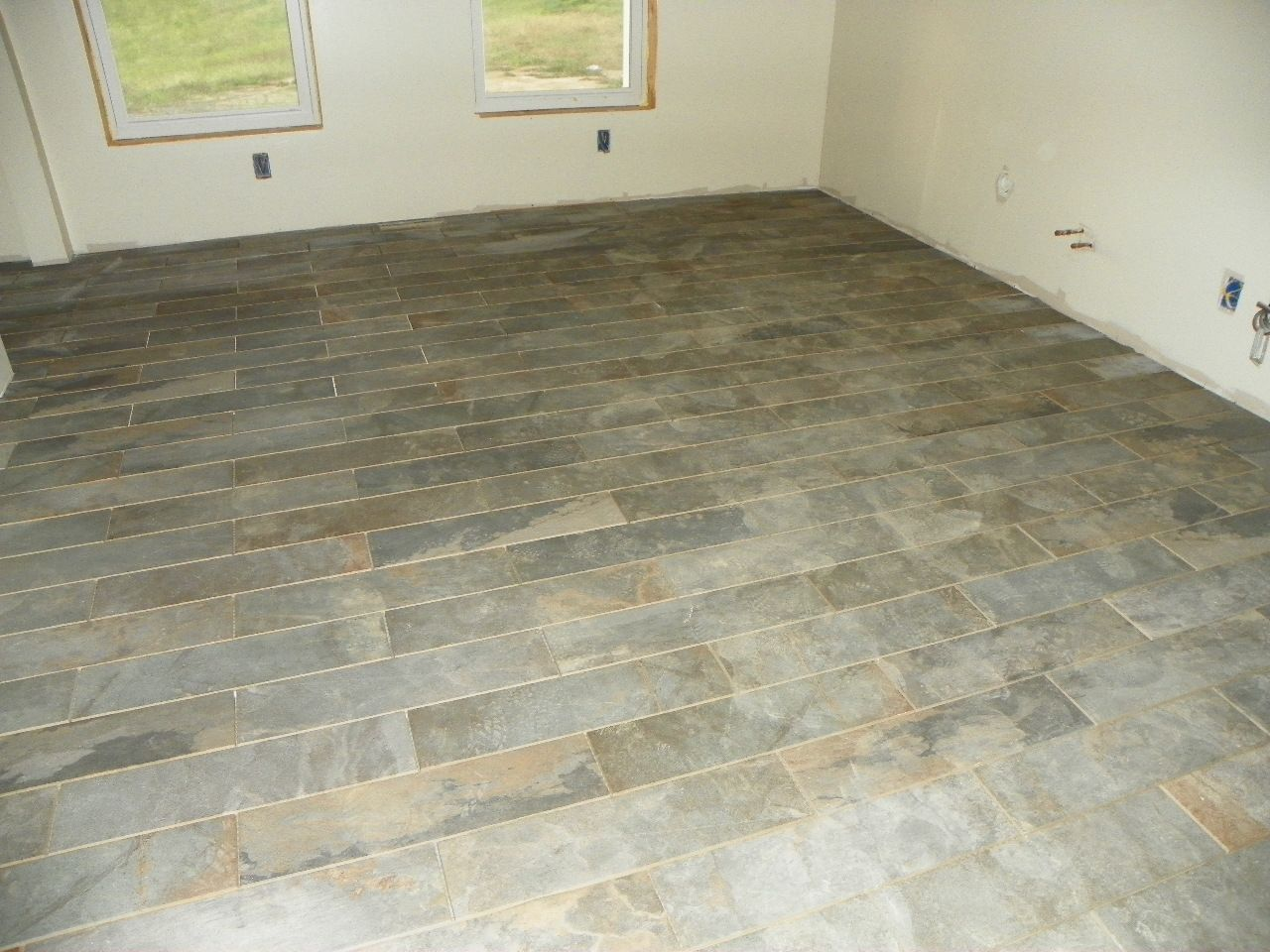 Kitchen Tile Style X Ivetta Black Slate Glazed Porcelain Floor