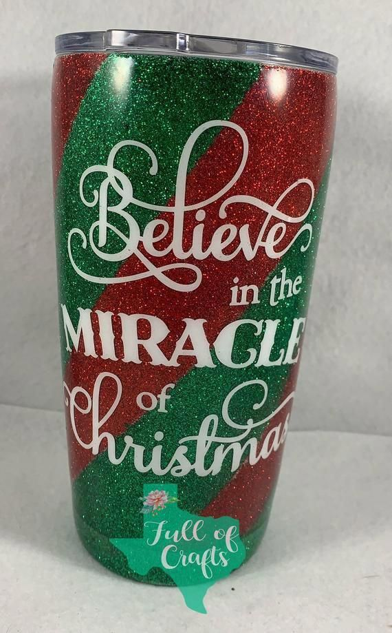 , Believe in the magic of christmas tumbler Christmas glitter | Etsy, Anja Rubik Blog, Anja Rubik Blog