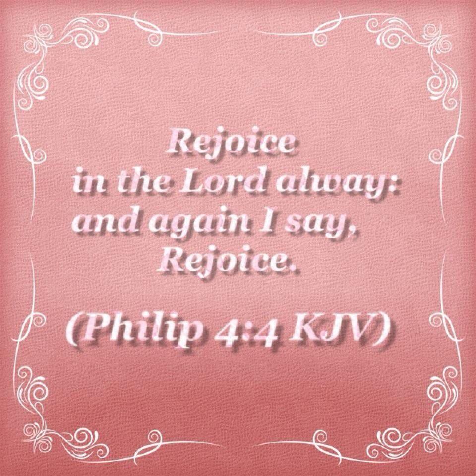 Image result for philippians 4:4 kjv