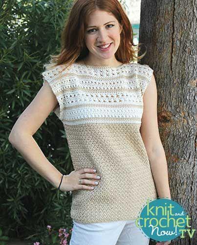 Free Whole Latte Love Crochet Top Pattern Featured In Season 7 Of