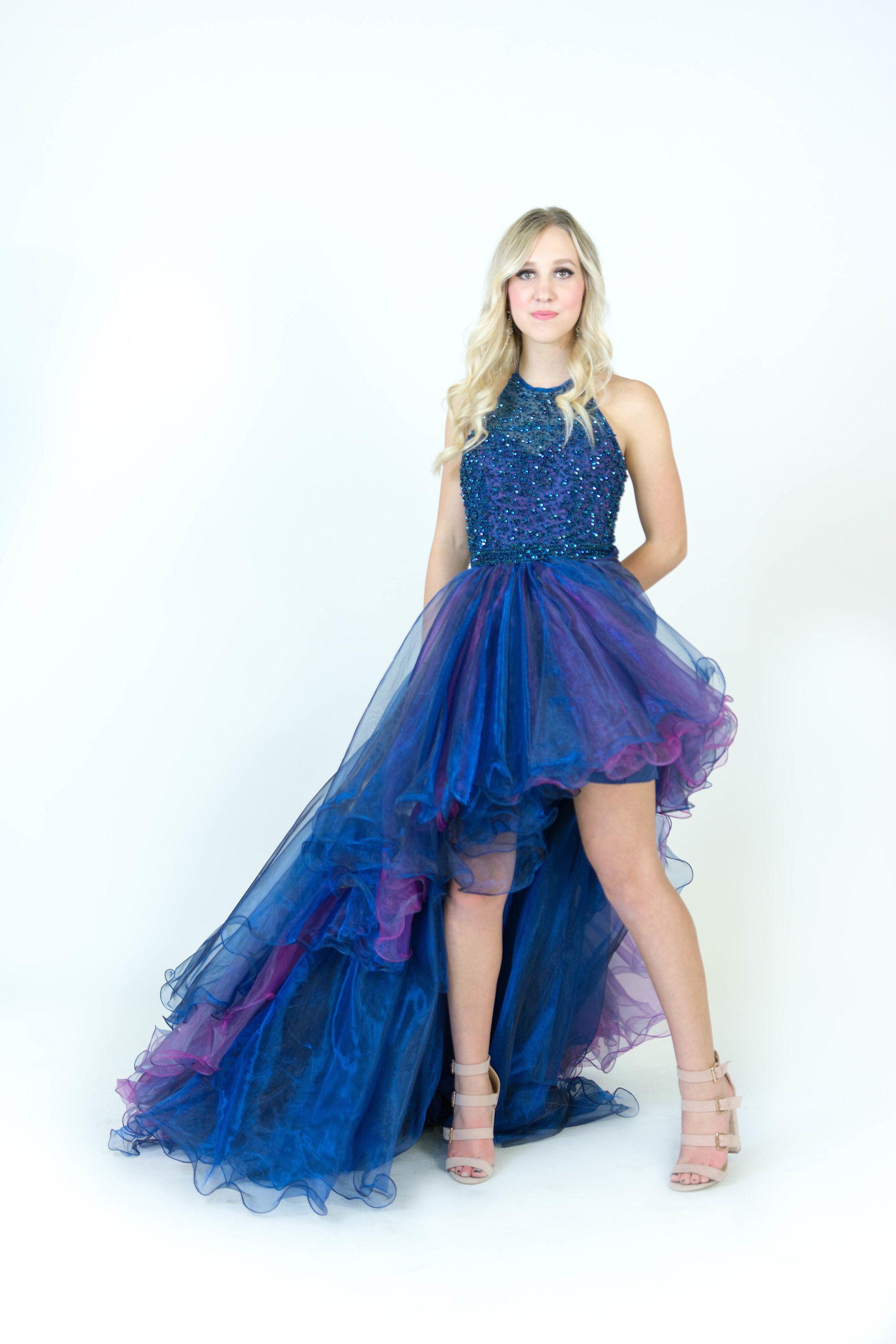 Sherri Hill High Low Royal Blue And Iridescent Purple Skirt Ypsilon Dresses Prom Pageant Evening W Prom Dresses Long Blue Purple Prom Dress Red Prom Dress Long [ 3600 x 2400 Pixel ]