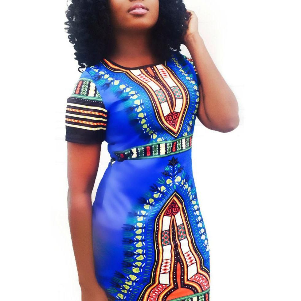 c76d62b9396 Classic African Printed Short Dress in 2019