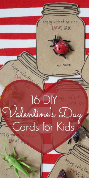 16 DIY Valentine's Day Cards for Kids