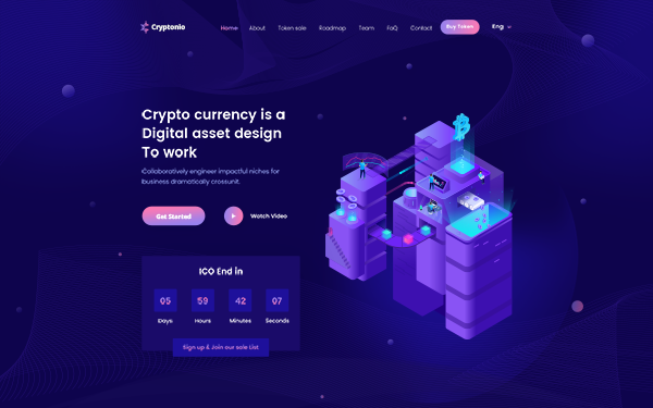 cryptonio cryptocurrency html template g r nt ler ile. Black Bedroom Furniture Sets. Home Design Ideas