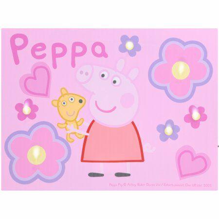 Peppa Pig Led Canvas Wall Art Walmart Com Peppa Pig Wallpaper Pig Wallpaper Canvas Wall Art