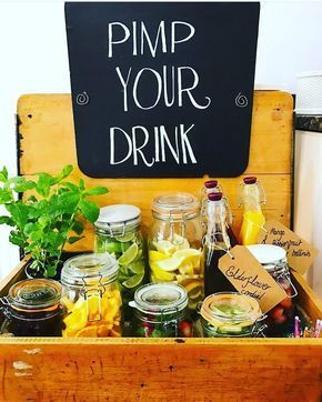 "Photo of The Beautiful Day on Instagram: ""Check out my Pimp Your Drink school desk at my god sister's 30th birthday last night! Full with cordials, fruit and a mini mint plant 🌱☺️🍹… """