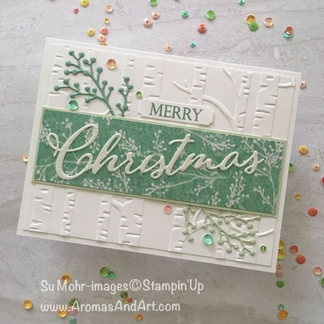 Frohe Weihnachten Pailletten & Schimmer   – Kerstkaart
