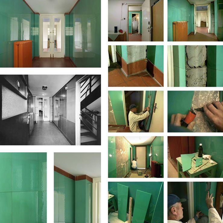 reconstruction - glass entrance, adolf loos villa muller