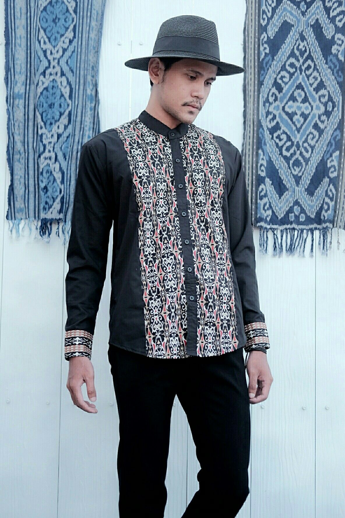 "L AUTHORITAIRE "" Songket for Ramadhan & Ied Menswear Black Dayak"