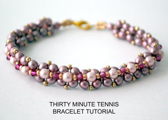 Thirty Minute Tennis Bracelet Tutorial, by obstinatepursuit on etsy.