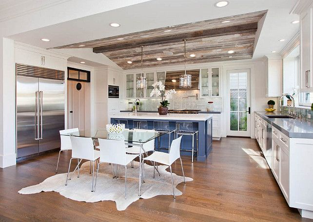Transitional Kitchen By White Picket Fence, Inc. Delicious Ceiling And  Lights Over The Island | Kitchens | Pinterest | White Picket Fence, Kitchens  And ...