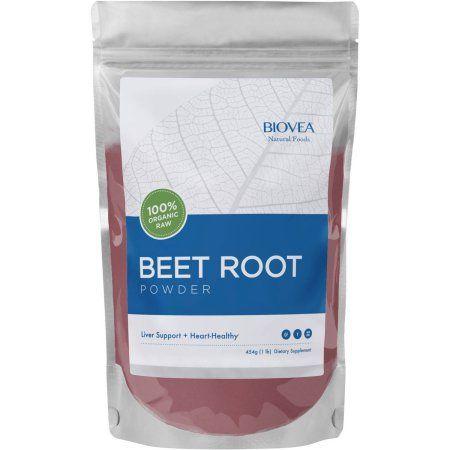 Biovea 100 Organic Raw Beet Root Powder 16 Oz Dried Goji