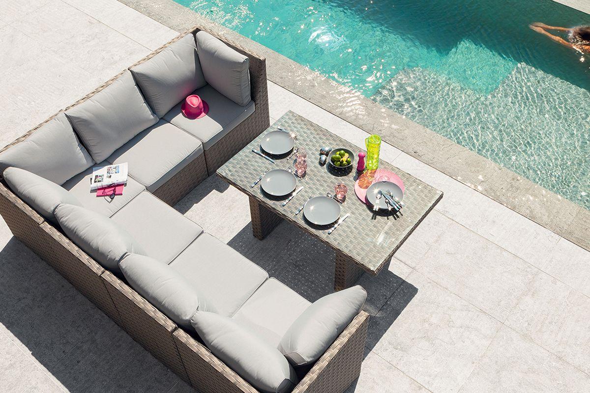 Salon de jardin table haute | Fourlon