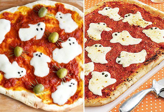 Ghostly pizza ghouls - Halloween food inspiration and ideas Mouths - halloween catering ideas