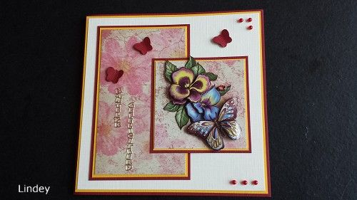 Happy Birthday card. 3d picture with butterfly by Marieke Design.