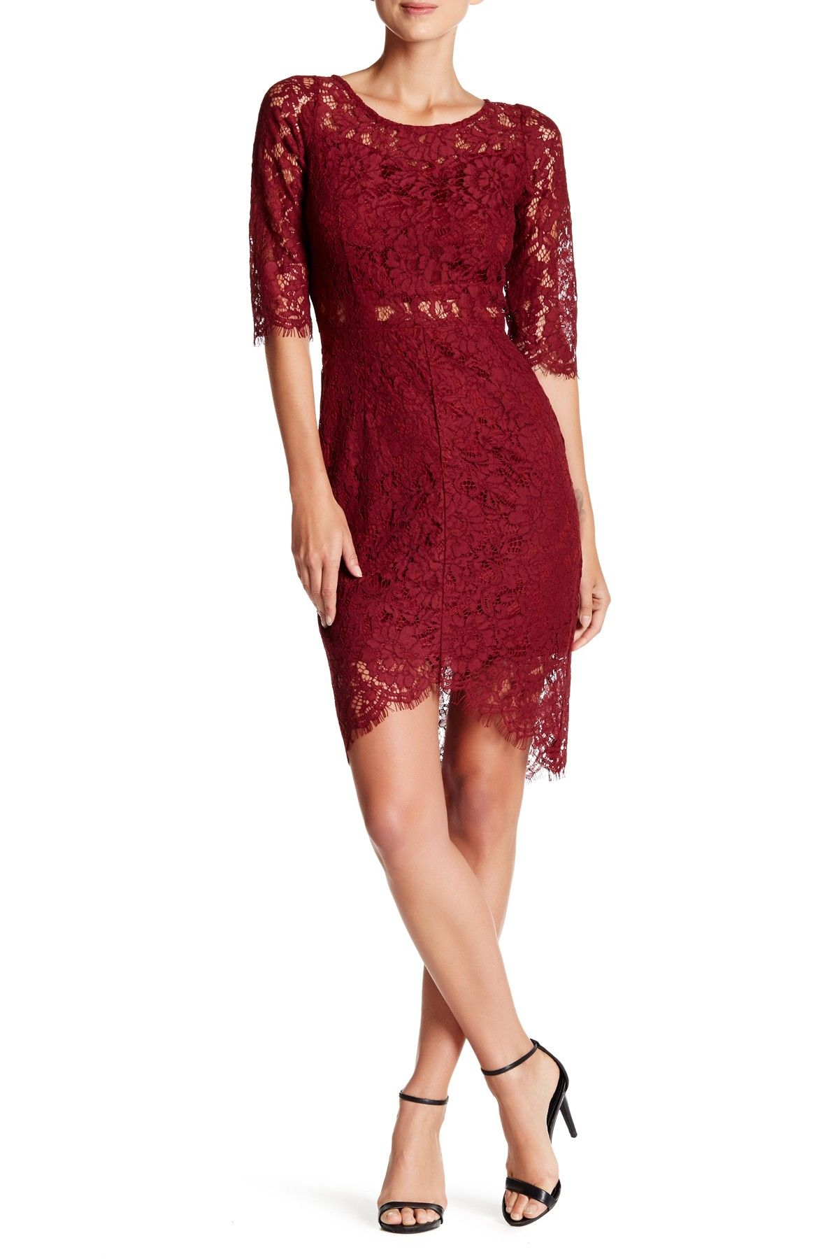 Soieblu | Ballet Lace Sheath Dress | Lace sheath dress