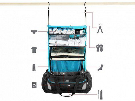 Duffle Luggage with Shelves by Rise Gear