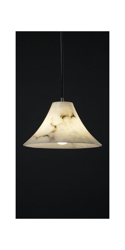 "Justice Design Group FAL-8860-20-BKCD LumenAria 9"" 1 Light Stone Mini Pendant Antique Brass Indoor Lighting Pendants"