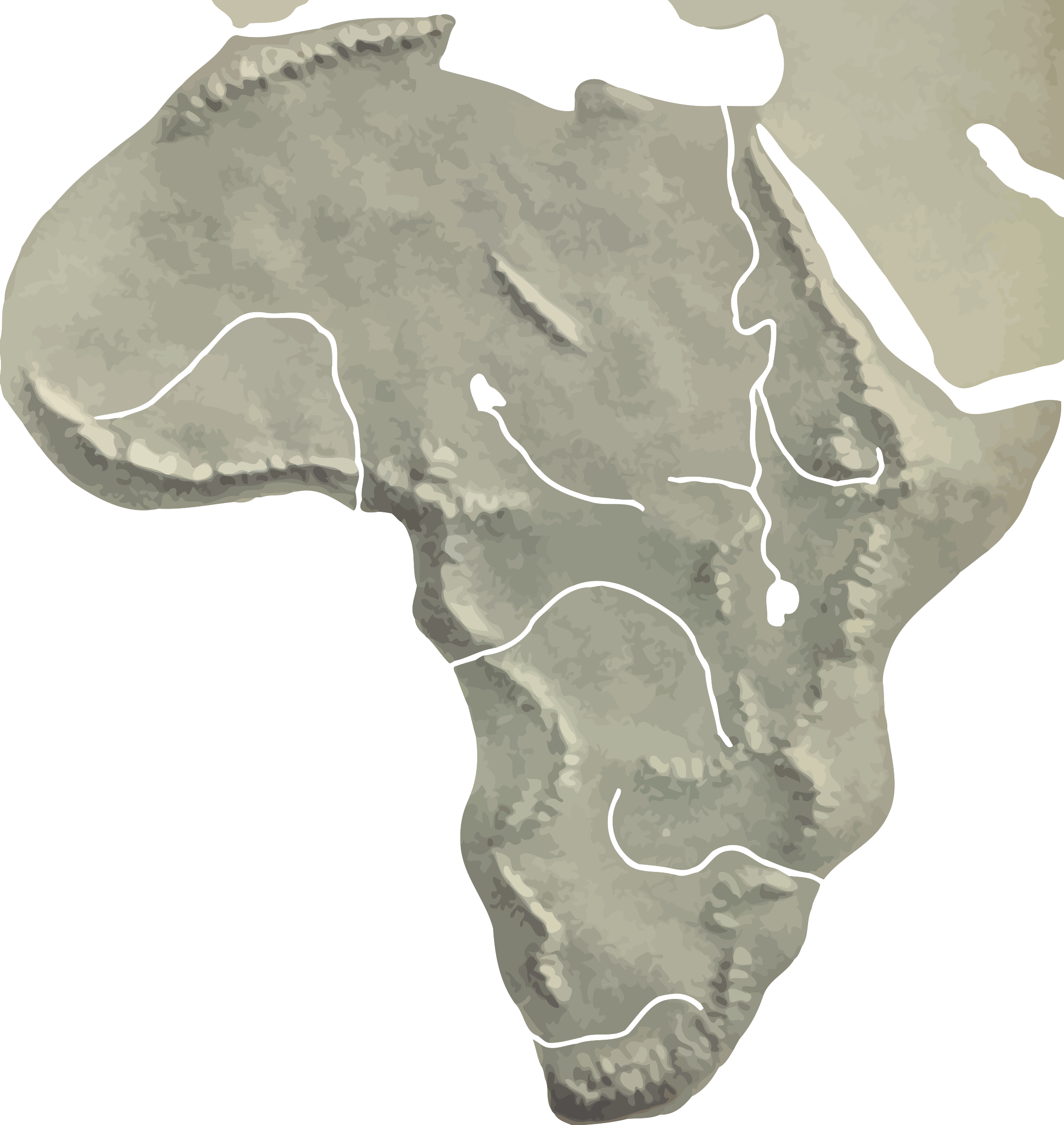 Africa Relief Map