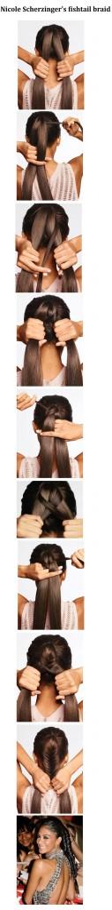 Nicole Scherzingers fishtail braid