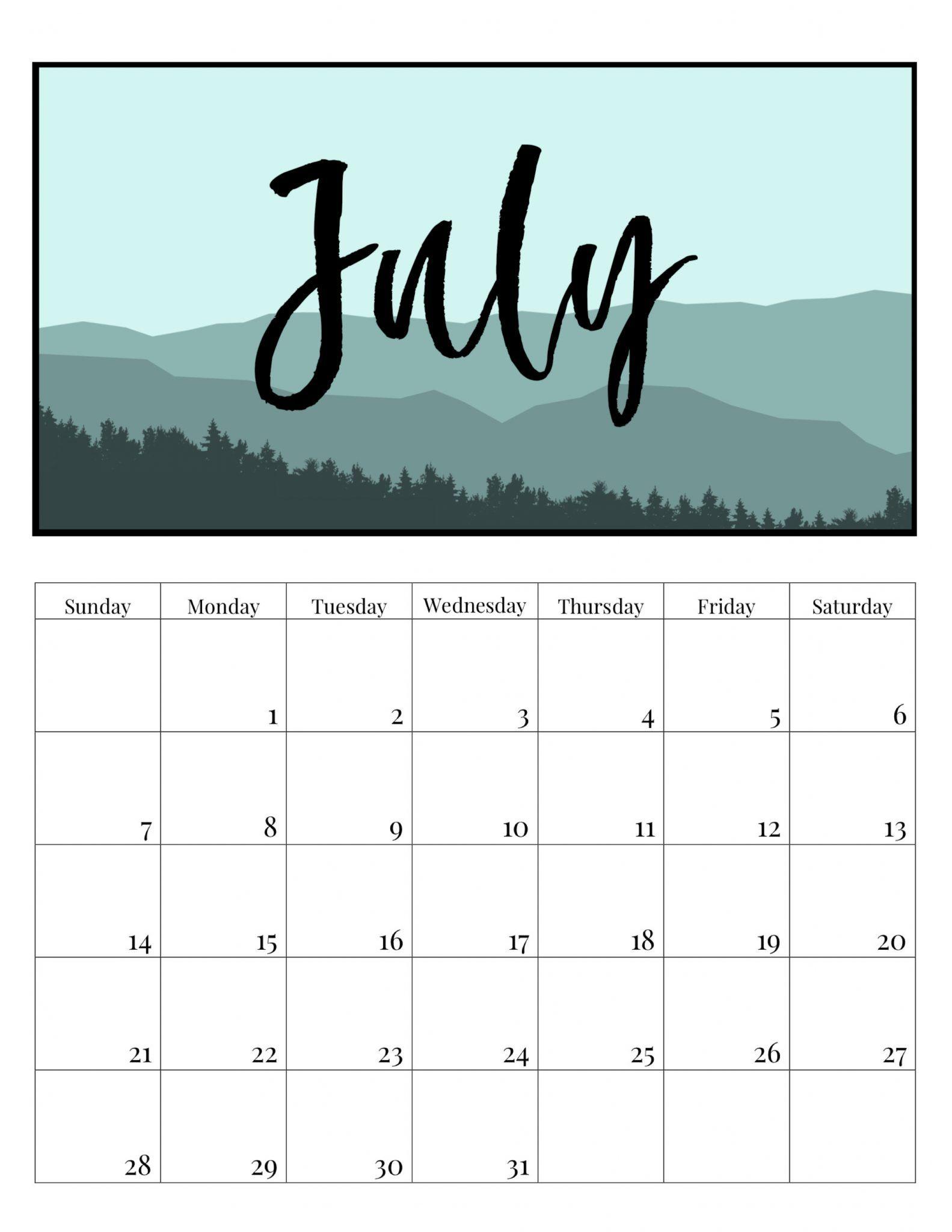Editable July 2019 Calendar July2019 July 2019calendar