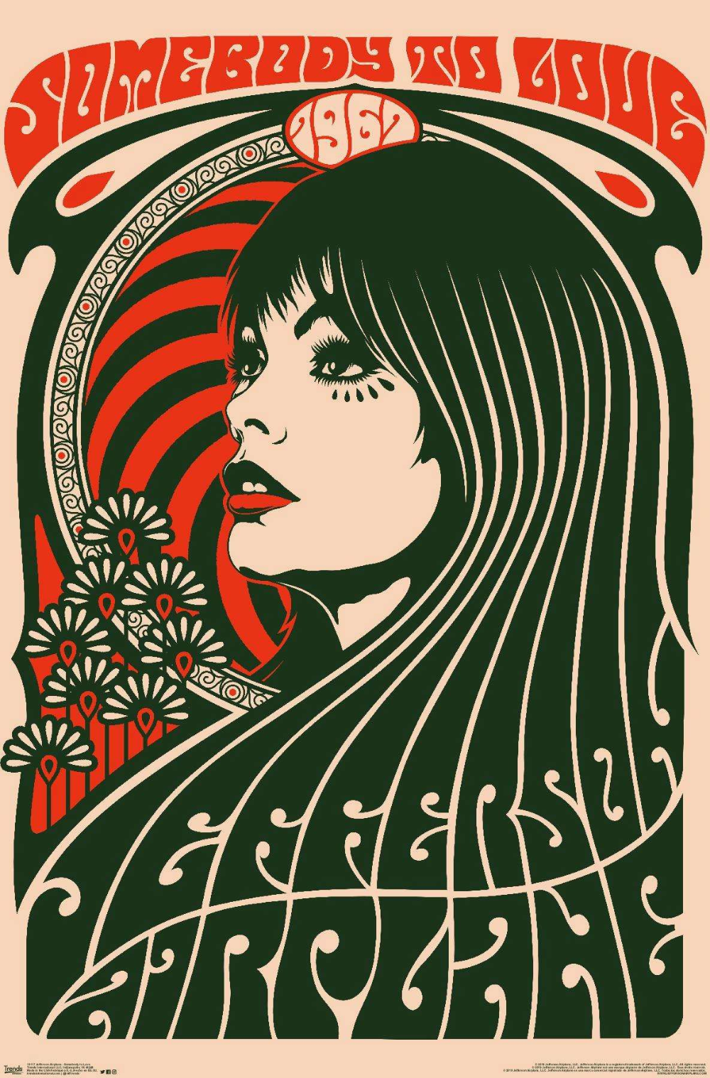 Jefferson Airplane Somebody To Love In 2020 Vintage Music Art Psychedelic Poster Vintage Music Posters