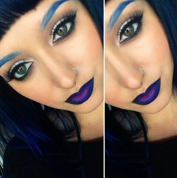 Not sure if I would go as far as coloring my eyebrows blue lol
