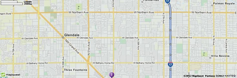 map in Phoenix, Arizona | MapQuest | DIY projects to try ...