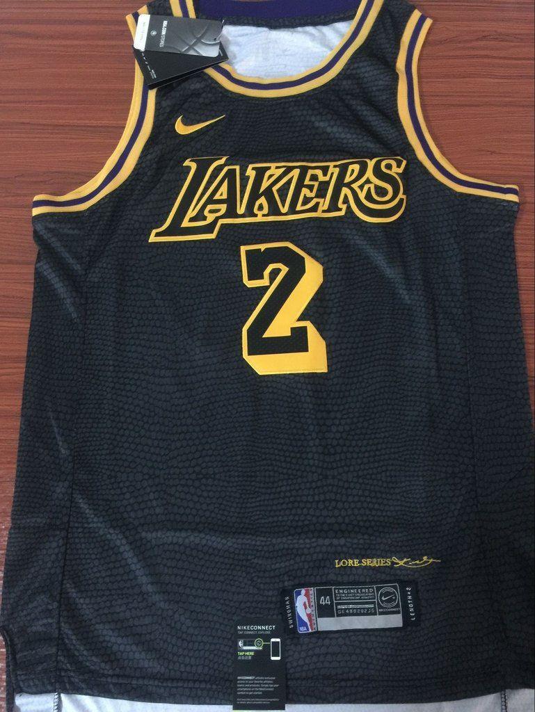 a854846d2c5 Men 2 Lonzo Ball Jersey Black Los Angeles Lakers Fanatics Swingman ...