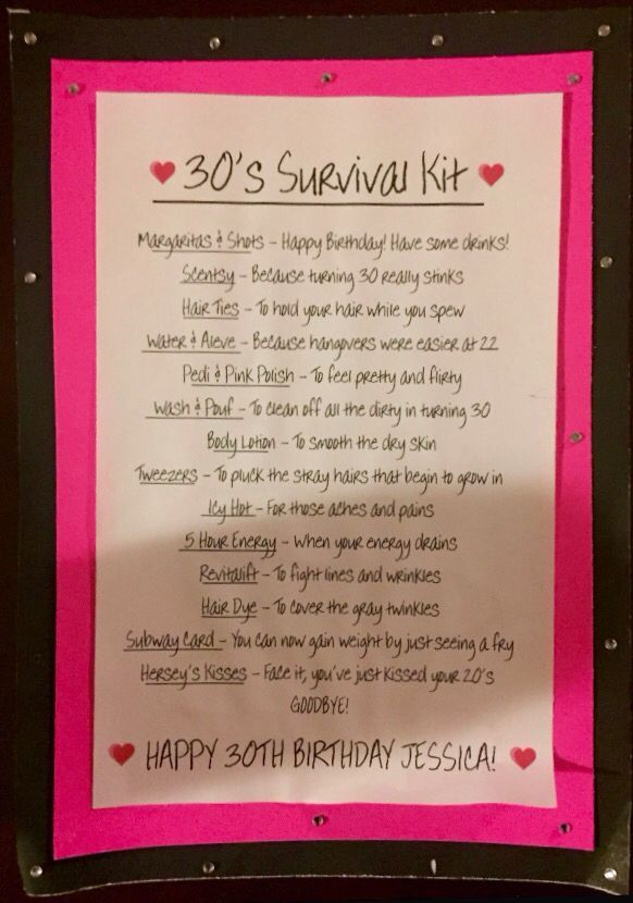 Pin By Darra Zienert On Gift Ideas Birthday Survival Kit