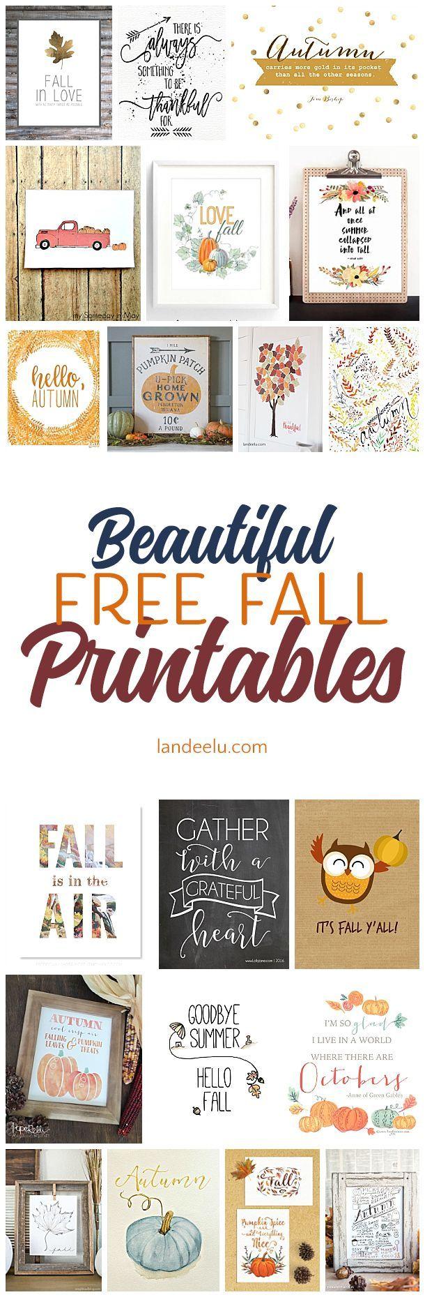 20 Free Fall Printables For Your Home | Actividades para niños ...