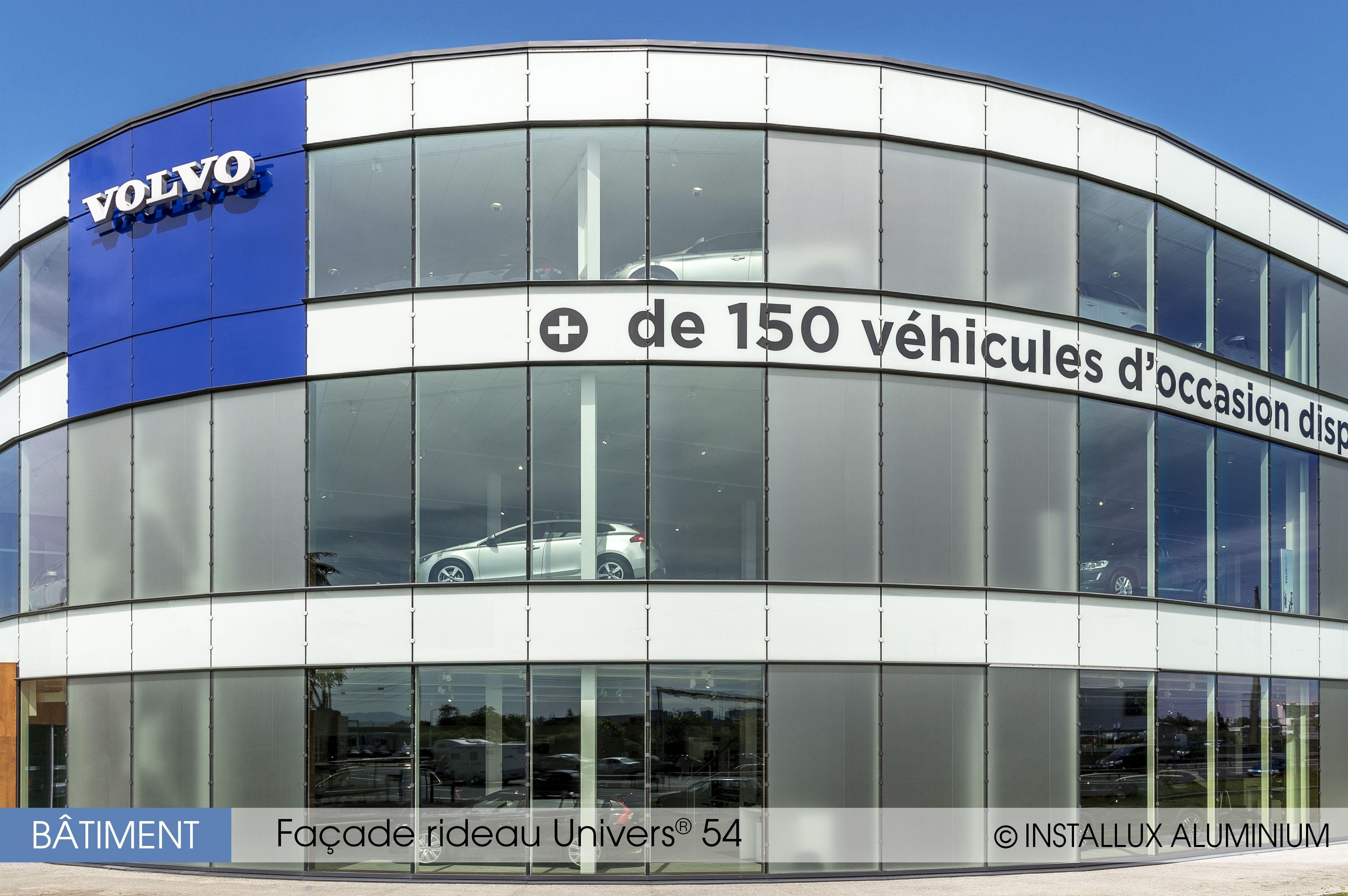 Façade rideau Univers 54 Installux Aluminium Réalisation : Volvo (69 ...