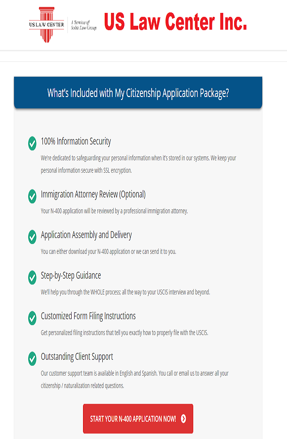 Us Citizenship Application Packages What Are The Packaged Covered