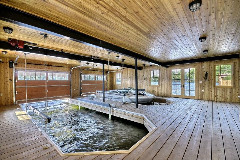 Boat garage storage sheltered outdoor space beautiful for Boat house plans pictures