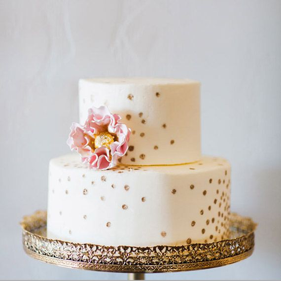 Wedding Cake Inspiration Ideas: New Years Bridal Shower Inspiration