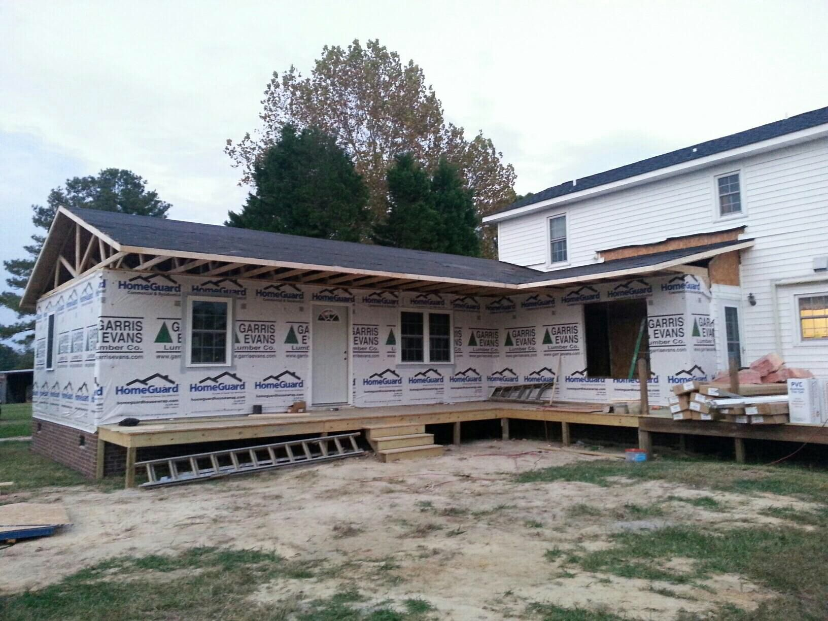 construction 800 sq ft in law addition retirement living